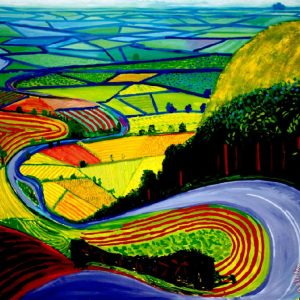 David Hockney garrowby hill Painting by Collection; David Hockney garrowby hill Art Print for sale